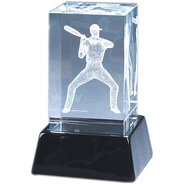 Natico Crystal 3-D Baseball Player Sculpture