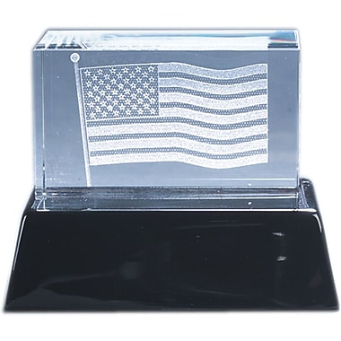 Natico Crystal 3-D American Flag Sculpture
