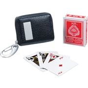 Natico Black Miniature Playing Cards With Travel Case