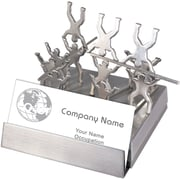 Natico Stainless Steel Business Card Holder, Silver
