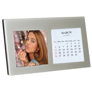 Natico Silver Photo Frame and Calendar, 2 1/4 x 2 1/4