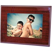 "Natico Mahogany Wood Photo Frame, 4"" x 6"""