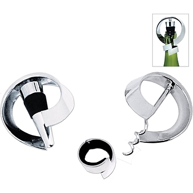 Natico Metal Moebius Wine Set, 3 Piece