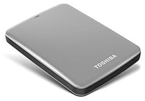 Toshiba Canvio® Connect 2TB Portable Hard Drive (Silver)