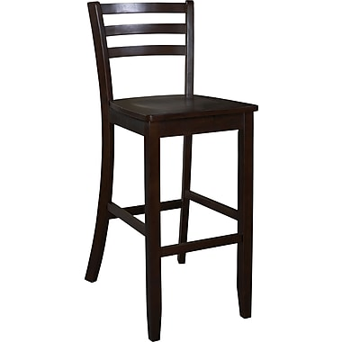 Linon Manhattan 30in.(H) Seat Wood Paesanne Stool, Espresso
