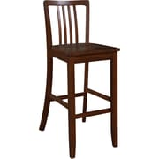 Linon Navy Wood Counter Bar Stool, Brown