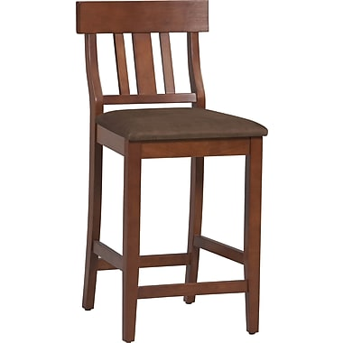 Linon Torino Microfiber Bar Stool, Brown