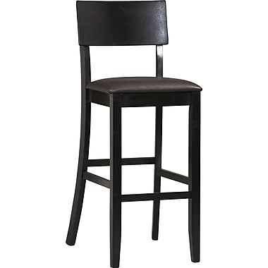 Linon Torino PVC Bar Stool, Dark Brown