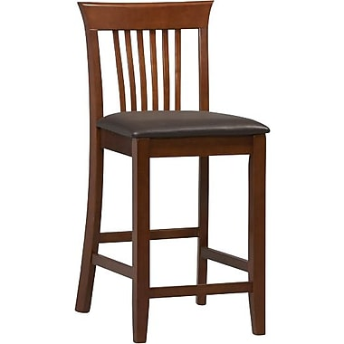 Linon Triena PVC Counter Stool, Dark Brown