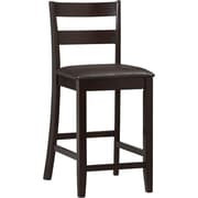 Linon Triena Soho PVC Counter Stool, Dark Brown