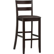 Linon Triena Soho PVC Bar Stool, Dark Brown
