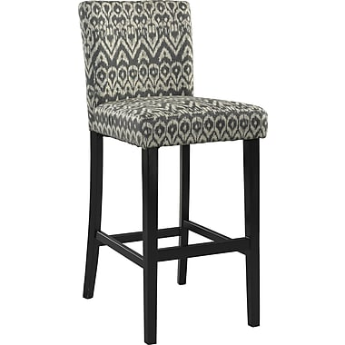 Linon Morocco Driftwood Bar Stool, Black