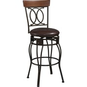 Linon O & X Back PVC Counter Stool, Brown