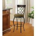 Linon Curve Microfiber Back Bar Stool, Beige/Black
