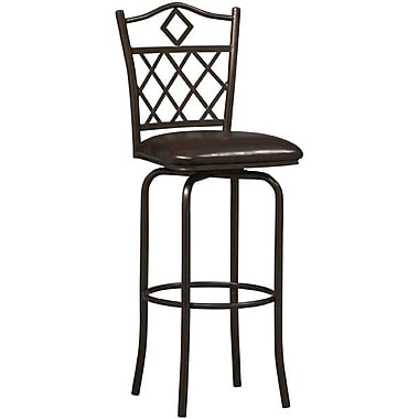 Linon Diamond PVC Counter Stool, Brown