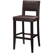 Linon Vega PVC Bar Stool, Dark Brown