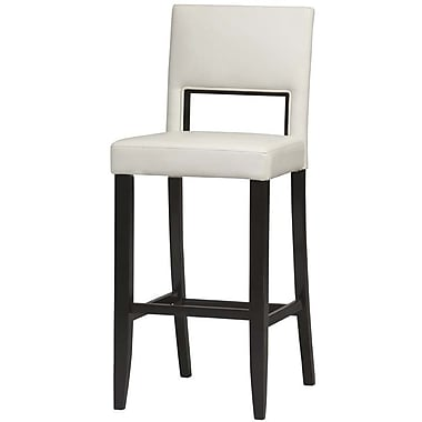 Linon Vega PVC Bar Stool, White