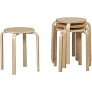 Linon Bent Wood Stacking Stool, Natural