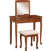 Linon Ruby Vanity Set, Maple