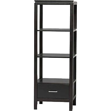 Linon Sutton Rubberwood Plasma TV Tower, Black