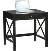 Linon Anna Pine/Painted MDF Laptop Desk, Antique Black