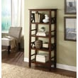 Linon Titian Pine Hard Wood Bookcase, Antique Tobacco
