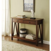 "Linon Titian 30.71"" x 44.01"" x 13.98"" Pine/Painted MDF Console Table, Antique Tobacco"