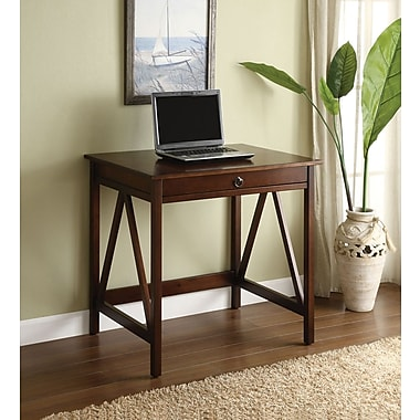 Linon Titian Standard Laptop Desk, Antique Tobacco (86155ATOB-01KDU)