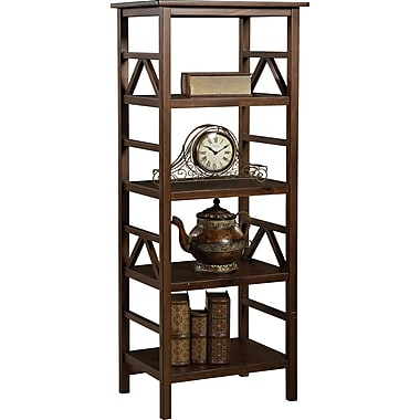 Linon Titian Wood TV Tower, Brown