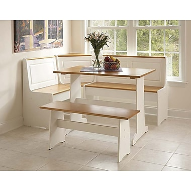 Linon Ardmore 29.5in. x 42.8in. x 27in. Painted MDF Nook With Pine Accents, White