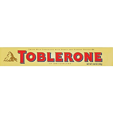 Toblerone Chocolate Bars, 3.52 oz. Bars, 20 Bars/Box