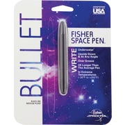 Fisher Space Pen Matte Black Bullet Ballpoint Pen, Medium Point, Black Ink, Each