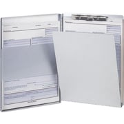 """OIC Aluminum Side Loading Form Holder w/Storage, Legal, Silver, 8 1/2"""" x 14"""""""