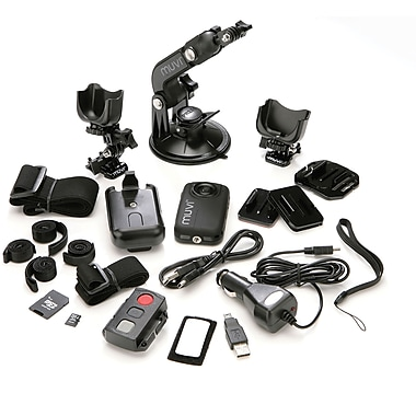 Veho MUVI HD Professional Mini Hands-free Body-Worn Camcorder, includes Wireless Remote Control