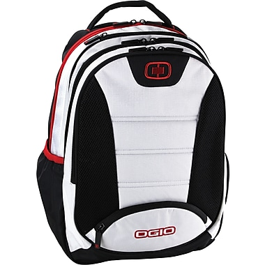OGIO Computer Backpack White/Black/Red,  17in.