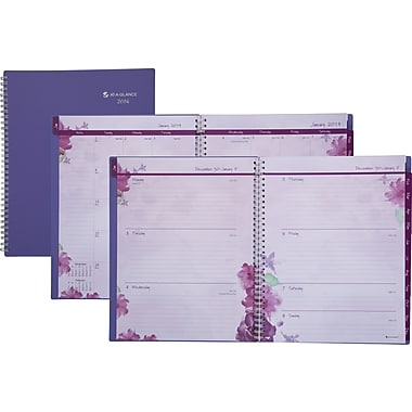 2014 AT-A-GLANCE® Beautiful Day Professional Weekly/Monthly Planner, 8-1/2in. x 11in.