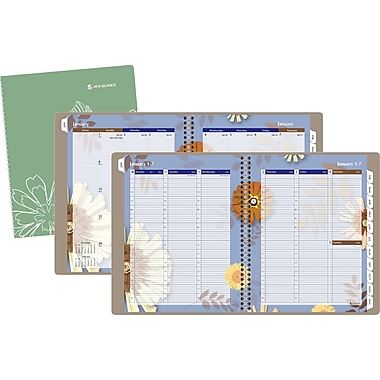 2014 AT-A-GLANCE® Paper Flowers Professional Weekly/Monthly Appointment Book, 8 1/2in. x 11in.