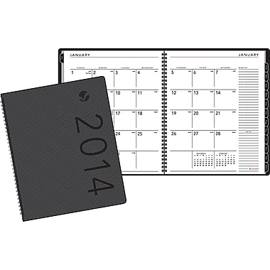 2014 AT-A-GLANCE® Contemporary Monthly Planner, Graphite , 6 7/8in. x 8 3/4in.