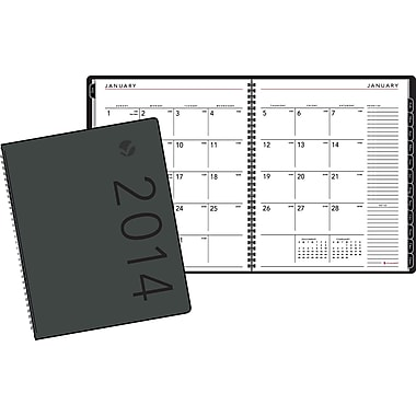 2014 AT-A-GLANCE® Contemporary Monthly Planner, Black, 6 7/8in. x 8 3/4in.