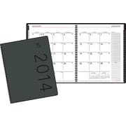 2014 AT-A-GLANCE® Contemporary Monthly Planner, Black, 6 7/8 x 8 3/4