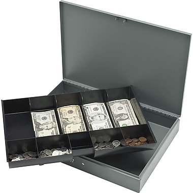 Sparco™ Cash Box with Tray