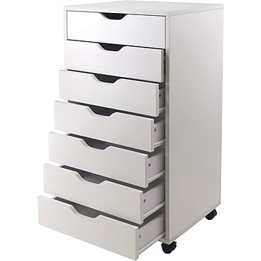 Winsome 35.35in. Composite Wood Halifax Cabinet With 7 Drawers, White