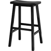 "Winsome 29"" Wood Saddle Seat Stool, Black"