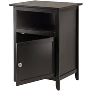 Winsome Trading Wood End Table, Black, Each (20115WTI)