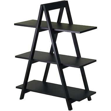Winsome MDF A-Frame 3-Tier Shelf, Black