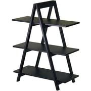Winsome MDF A-Frame 3-Tier Shelf, Black