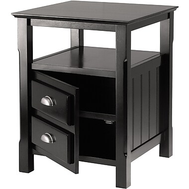 Winsome Trading Timber Metal Side Table, Black, Each (20920WTI)