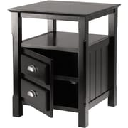 "Winsome Timber 25"" x 20"" x 20"" Composited Wood Night Stand, Black"