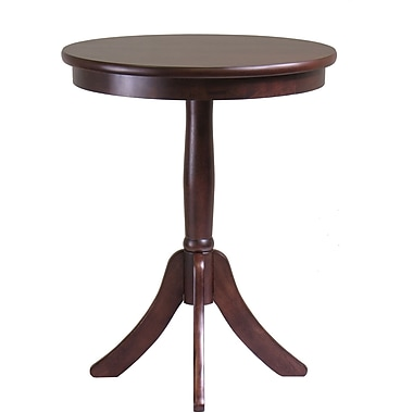 Winsome Belmont 25in. x 20in. x 20in. Composite Wood End Table With Pedestal Leg, Cappuccino