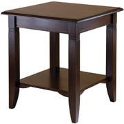 "Winsome Nolan 21.97"" x 20"" x 20"" Composite Wood End Table, Cappuccino"